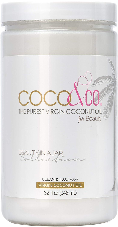 COCO & CO. RAW & Organic Extra Virgin Coconut Oil for Hair, Skin, Body, Scalp & Hair Growth