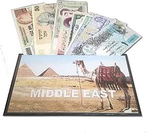 IMPACTO COLECCIONABLES Billetes del Mundo - Colección de Billetes - 8 Billetes Diferentes de Oriente Medio: Amazon.es: Juguetes y juegos