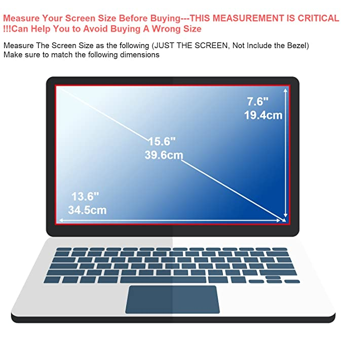 15 6 Inch Laptop Glass Screen Protector+ Large Cleaning Cloth for 16:9  Aspect Ratio Laptop