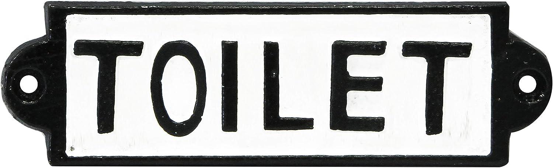 Negro//Blanco Hierro Fundido Rolson/ 1/x 22,5/x 10/cm /Se/ñal para ba/ño