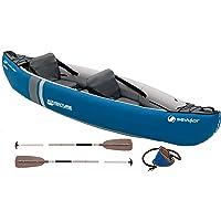 Sevylor Adventure Kit Kayak Gonfiabile, Kayak Mare da 2 Posti, Canoa, con Pompa a Pedale e Pagaia, 314 x 88 cm