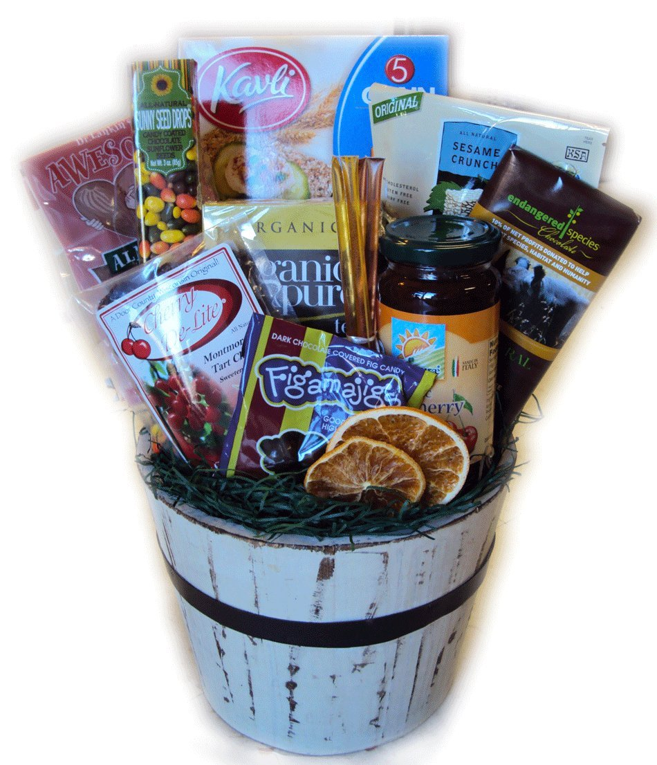 Low-sodium Heart Healthy Birthday Gift Basket by Well Baskets
