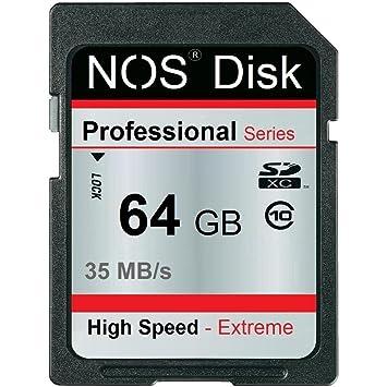 Amazon.com: Nos Disk Extreme Tarjeta de memoria de 64 GB SD ...