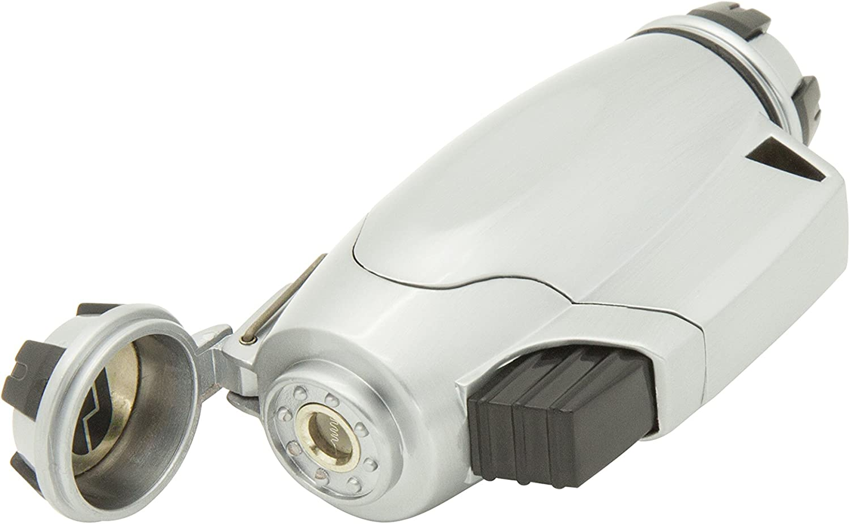 True Utility Turbojet Lighter Mechero, Feuerzeug Firewire Turbo Jet, Grau, TU407, Plateado, Talla Única