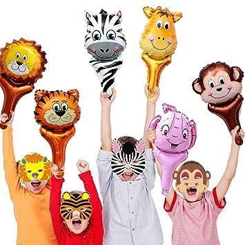 Amazon.com: Jungle Safari - Juego de 12 globos de animales ...