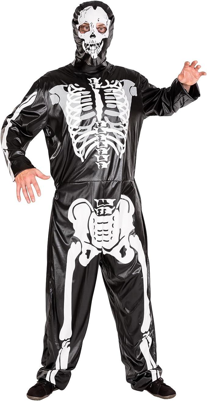 TecTake dressforfun Disfraz de Esqueleto para Hombre   Mono y ...