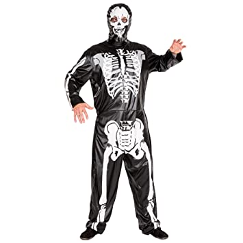 TecTake dressforfun Disfraz de Esqueleto para Hombre | Mono y ...