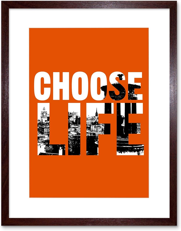 Quote Choose Life Trainspotting Edinburgh Framed Print F12x12122 Canvas art