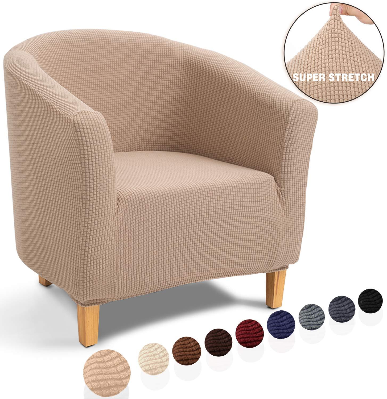 Tub Chair,Bordeaux Elasticizzato Jacquard Antiscivolo 1-Pezzo Fodere coprisedia Tub Chair Copridivano TIANSHU Poltrona da Cocktail Chesterfield Fodere coprisedia