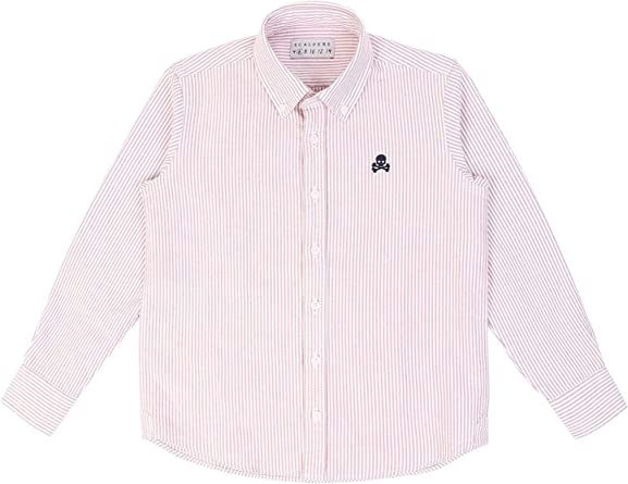 Scalpers Camisa Rayas Oxford - Terracotta / 12: Amazon.es ...