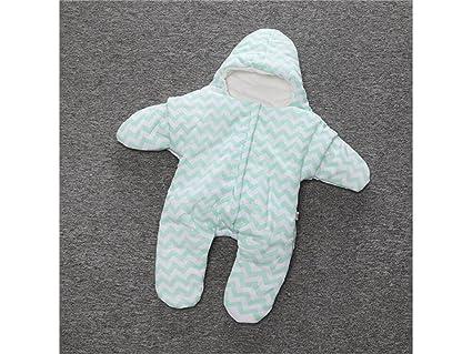 QWhing Suave y Acogedor Recién Nacido Infantil bebé Estrella de mar Grueso Saco de Dormir Dividir