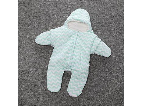 Recién nacido infantil bebé estrella de mar grueso saco de dormir dividir la pierna para dormir