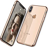 DTTO Case for iPhone Xs, [Lightening Series] Clear Stylish Flexible Case with Metal Luster Edge for Apple iPhone Xs(2018…