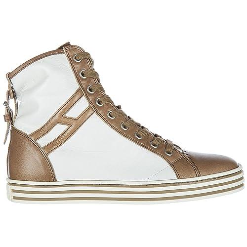 Hogan Rebel Sneakers Alte Donna Bianco 35 EU  Amazon.it  Scarpe e borse ae3f6965477