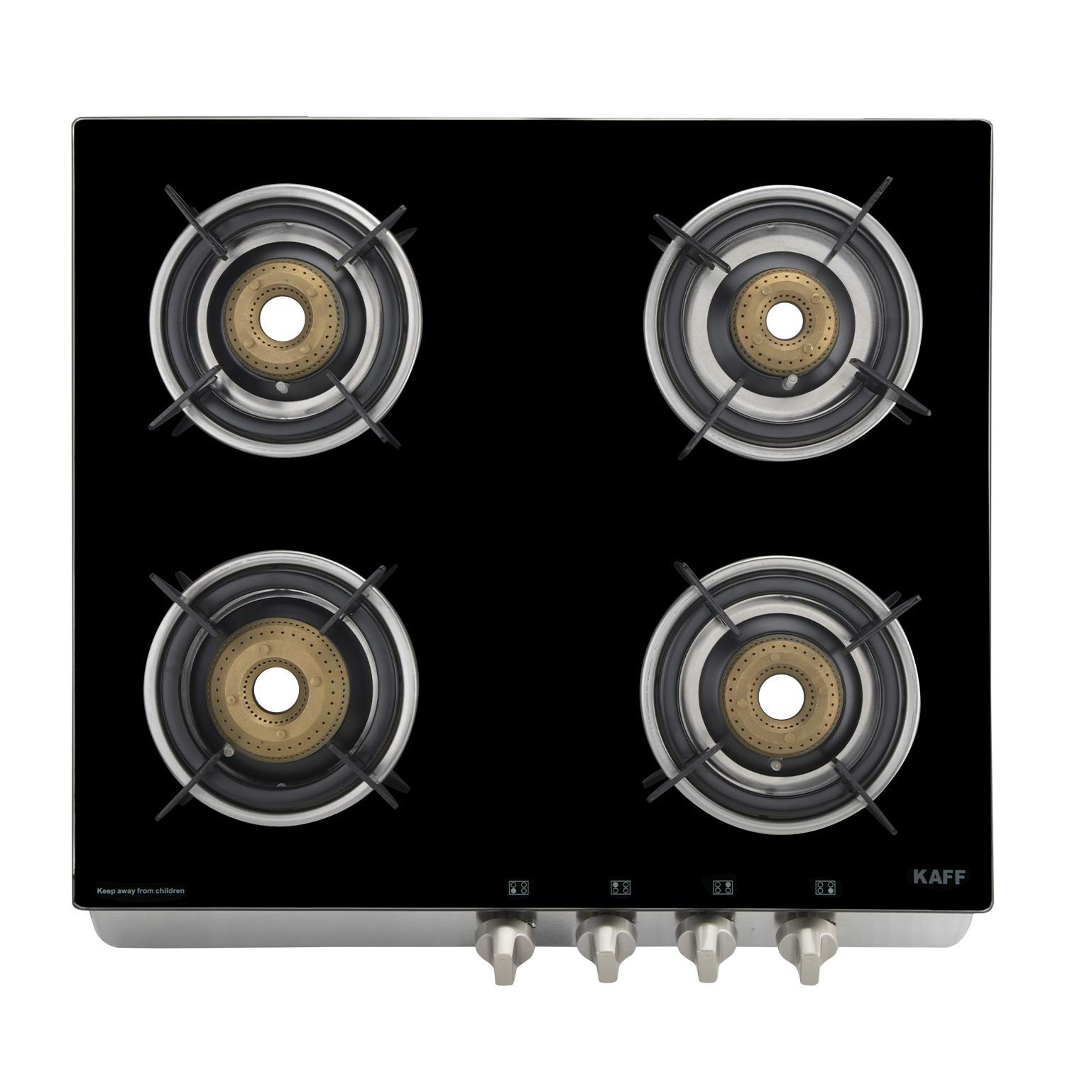 Kaff 4 Burner Auto Ignition Cooktop (Stainless Steel)