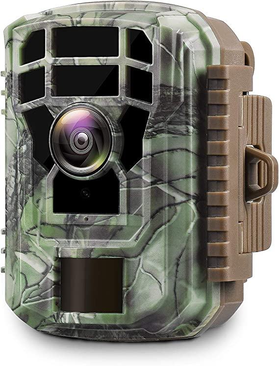 """Campark Mini Trail Camera 1080P HD Game Camera Waterproof Wildlife Scouting Hunting Cam with 12MP 120° Wide Angle Lens and Night Vision 2.4"""" LCD IR LEDs"""