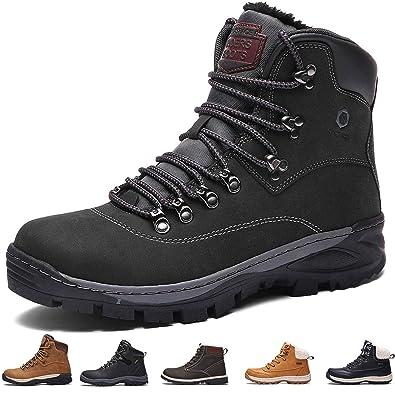 SIXSPACE Winterstiefel Warm Gefütterte Winterschuhe Outdoor Schneestiefel Wanderschuhe Rutschfeste Arbeitsschuhe Winter Boots für Herren Damen