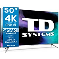TD Systems K50DLJ12US - Televisores Smart TV 50 Pulgadas 4k UHD Android 9.0 y HBBTV, 1500 PCI Hz, 3X HDMI, 2X USB. DVB…