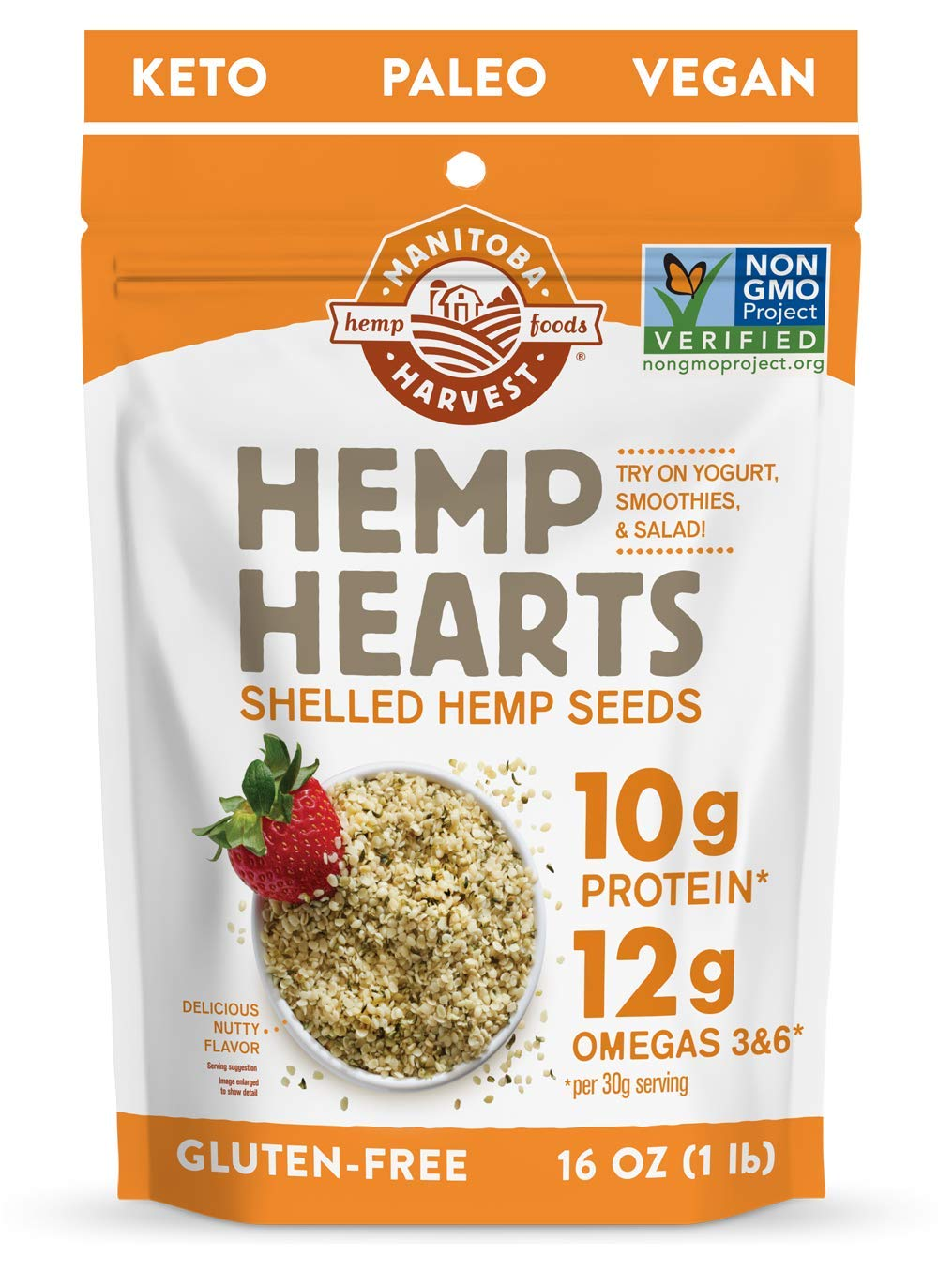 Hemp Hearts Raw Shelled Hemp Seeds