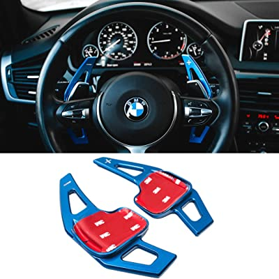For BMW Paddle Shifter Extensions,Jaronx Aluminum Metal Steering Wheel Paddle Shifter(Fits: BMW 2 3 4 X1 X2 X3 X4 X5 X6 series,F22 F23 F30 F31 F33 F34 F36 F32 F15 F16 F25 F26 F48 F39) -Blue: Automotive