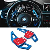 For BMW Paddle Shifter Extensions,Jaronx Aluminum Metal Steering Wheel Paddle Shifter(Fits: BMW 2 3 4 X1 X2 X3 X4 X5 X6…