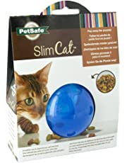PetSafe SlimCat Interactive Toy and Food Dispenser, Blue