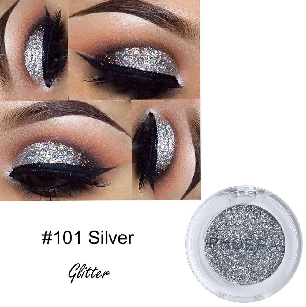 Kashyk 8 Colors Metallic Eyeshadow | Eye Shadow Palette | Glitter Powder | Metals Eyeshadow | Smoke Color | Face Makeup | Shimmering | Highly Pigmented | Makeup Beauty | Party| Gift (A)