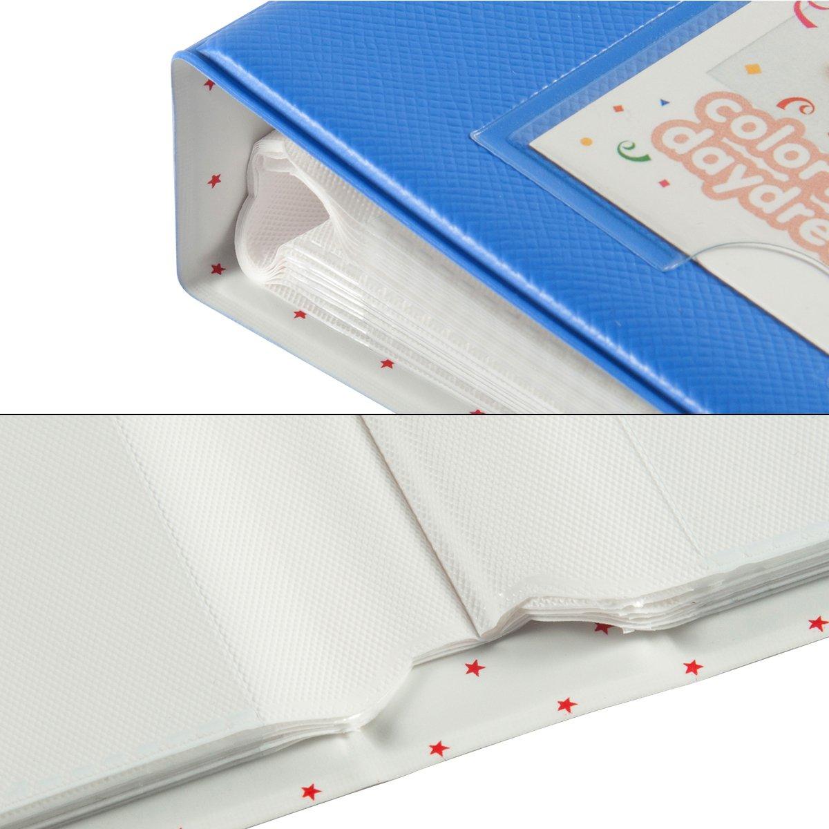 Polaroid PIC-300 Z2300 Film CAIUL Compatible 128 Pockets Mini Photo Album for Fujifilm Instax Mini 7s 8 8 9 25 26 50s 70 90 Film Ice Blue