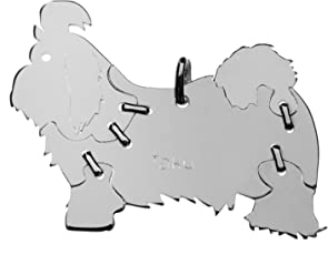 SHIH TZU Hunde Tier-Anhänger Medium 925 Sterling Silber Charm Schmuck 038CM