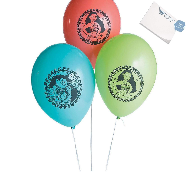 s Moana Latex Balloons (With Sticky Notes)