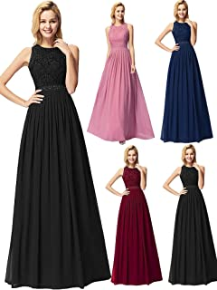 30d9541f55e Ever-Pretty Womens Cap Sleeve Lace Neckline Ruched Bust Evening Gown 09993