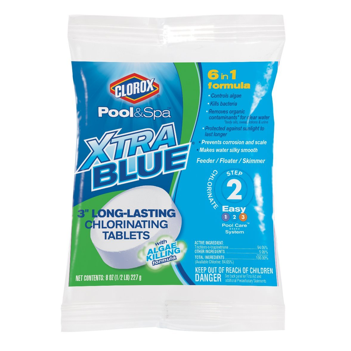 CLOROX Pool&Spa 23000CLX XtraBlue 3'' Long Lasting Chlorinating Tablets by CLOROX Pool&Spa