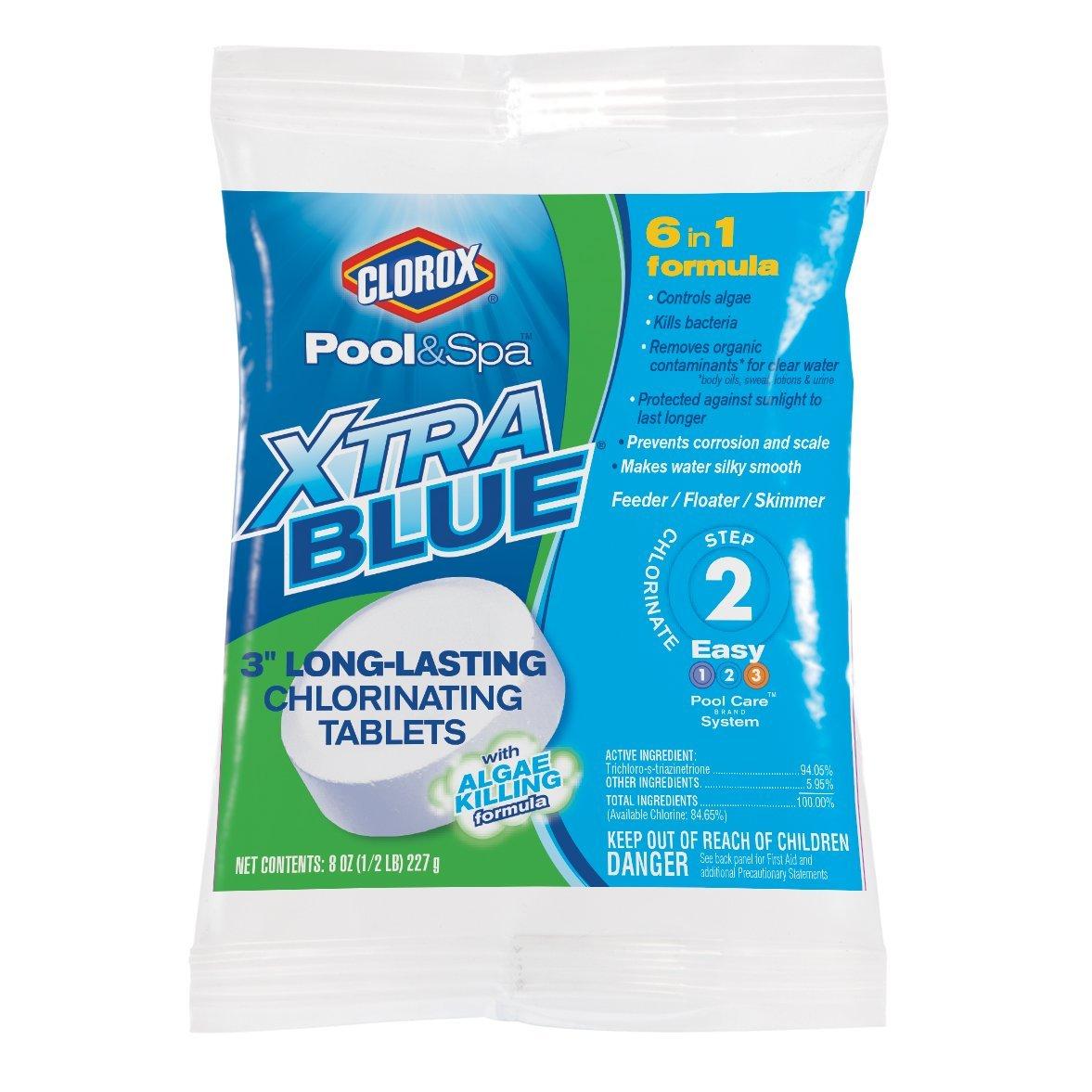 CLOROX Pool&Spa 23000CLX Xtrablue 3'' Long Lasting Chlorinating Tablets