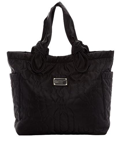 33ea5b8f01ab MARC BY MARC JACOBS Pretty Nylon Medium Tate Black Tote  Amazon.in  Shoes    Handbags