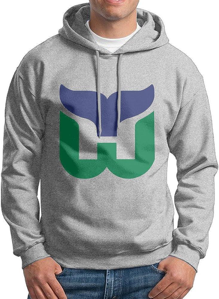 SuperFF Men's Hartford Whalers Logo Hooded Sweatshirt