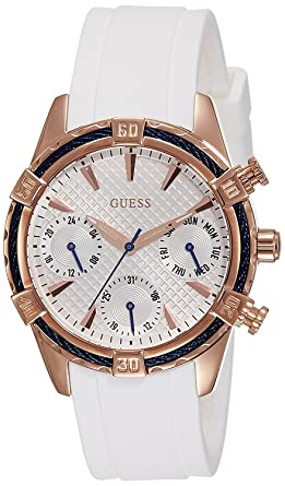562639450 Buy Guess Analog White Dial Women's Watch - W0562L1 Online at Low ...