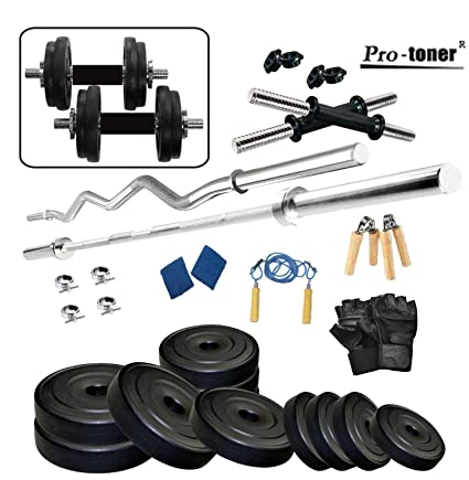 e9cb76ccab4 Buy Protoner 20kg Home Gym Set with Accessories Online at Low Prices in  India - Amazon.in