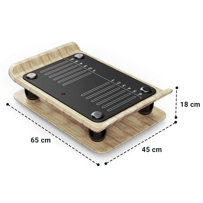 Klarfit Roomik Shake • Plataforma vibratoria • Frecuencia 15-55 Hz • Aplicación Van FIT iOS/Android • Mando a Distancia • Abedul Americano ...