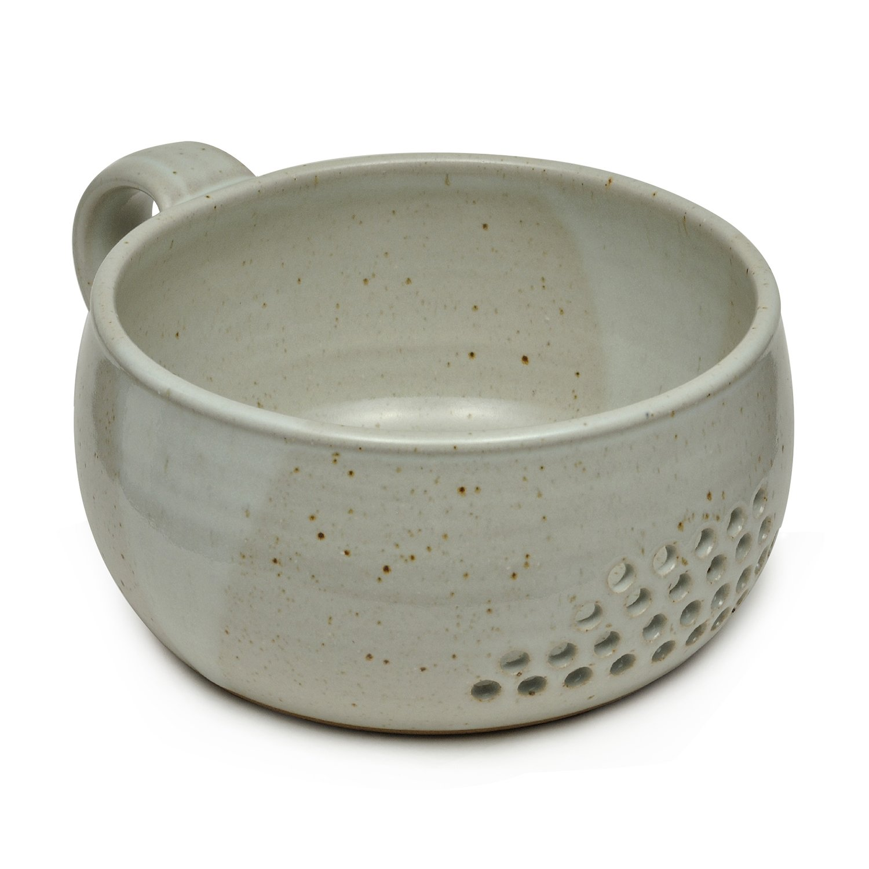 GW Pottery Handmade Stoneware Berry Bowl/Colander, Blue Geoff Walsh Pottery