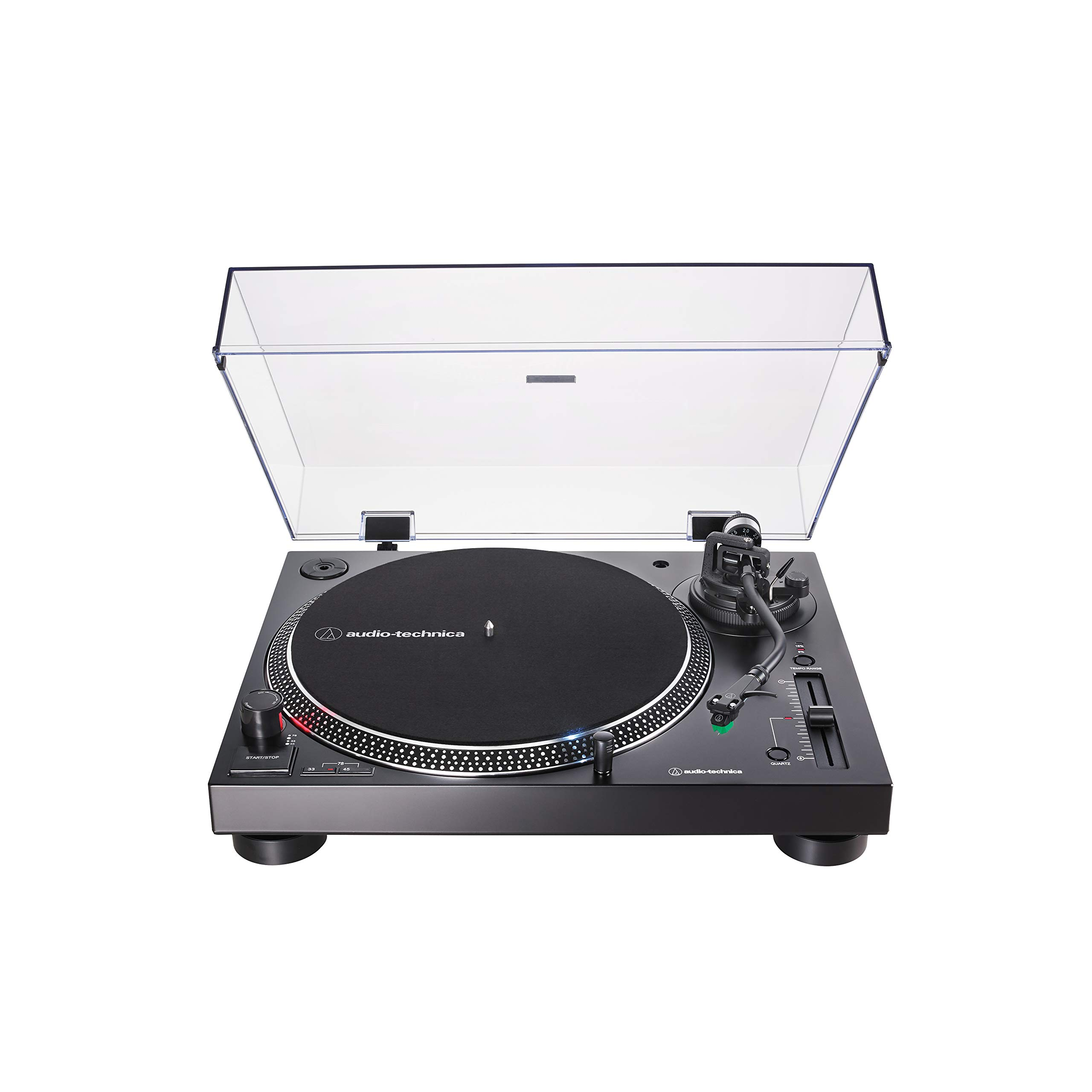 Audio-Technica AT-LP120XUSB Direct-Drive Turntable (Analog & USB), Black, Hi-Fidelity, Plays 33 -1/3, 45, and 78 RPM Records, Convert Vinyl to Digital, Anti-Skate Control, Variable Pitch Control by Audio-Technica