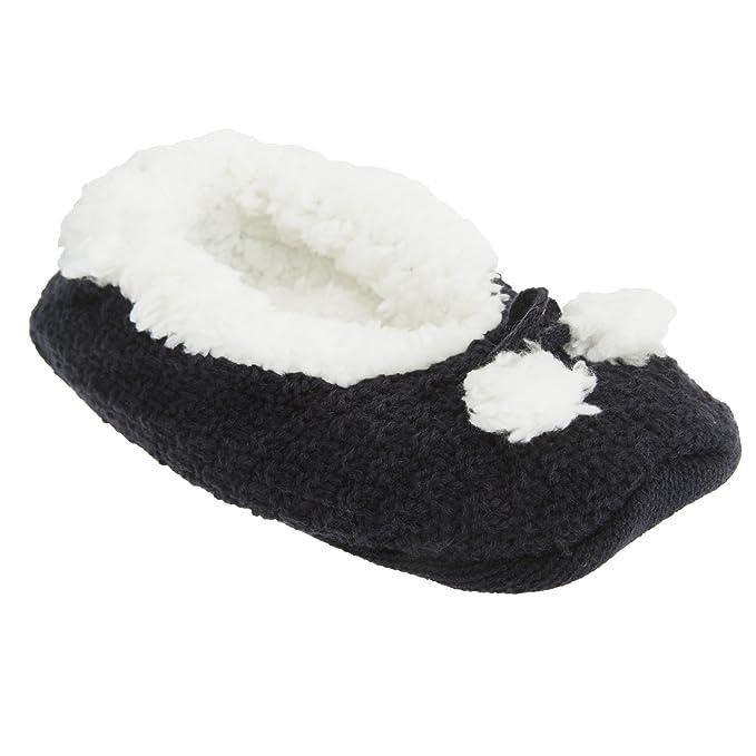 Calcetines/zapatillas de estar por casa con agarre en la suela de punto con interior