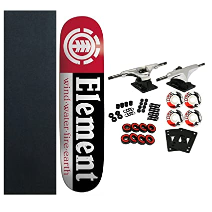 439811763c Amazon.com   ELEMENT Skateboards SECTION Complete SKATEBOARD Black    Standard Skateboards   Sports   Outdoors