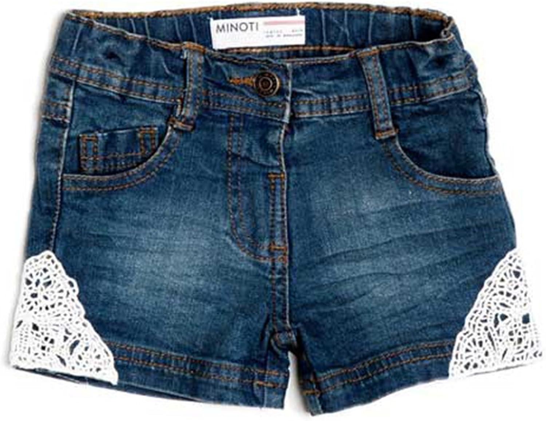 Minoti Lace Patch Denim Shorts