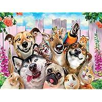 Kit completo de pintura de diamantes 5D perro