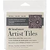 Strathmore 105-978-1 Artist Tile Pack, Toned Gray (105195)