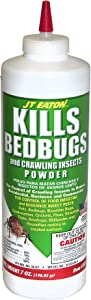 JT Eaton 203 Bedbug and Crawling Insect Powder with Diatomaceous Earth, 7-Ounce bottle
