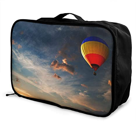 543fd733866d Amazon.com | JTRVW Luggage Bags for Travel, Lightweight Large Capacity  Portable Duffel Bag for Men & Women Sky Hot Air Balloon Travel Duffel Bag  Backpack ...