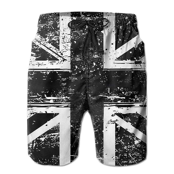 0b9b35d7fa662 Union Jack Flag UK Great Britain Men's Swim Trunks Board Beachwear Casual  Beach Shorts for Men