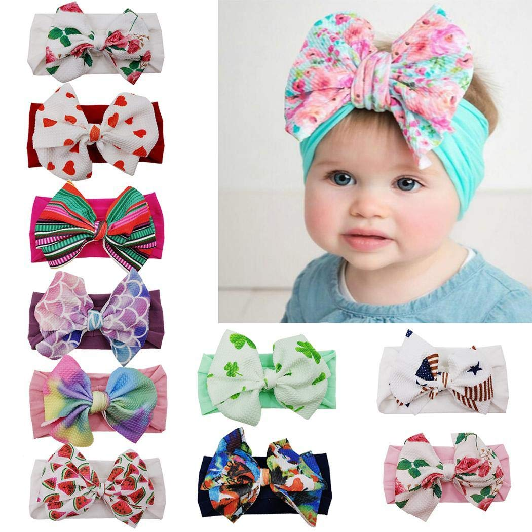 Mavere Baby Girls Floral Cute Fashion Childrens Bow Hairband Hairdress Headwear