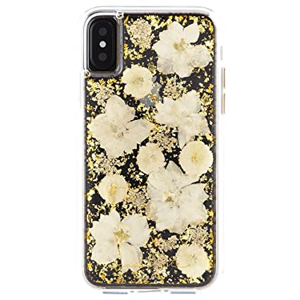san francisco 87dc8 fbff3 Case-Mate iPhone X Case - KARAT PETALS - Made with Real Flowers - Slim  Protective Design - Apple iPhone 10 - Antique White